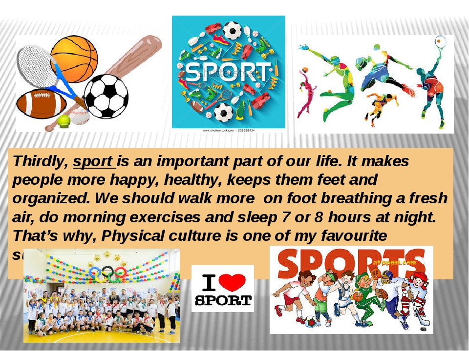 importance sports life