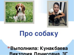 Выполнила: Кунакбаева Виктория Денисовна, 3Г класс Руководитель: Еникеева Айг