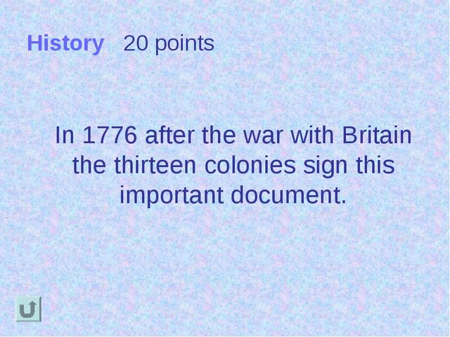History 20 points In 1776 after the war with Britain the thirteen colonies si...