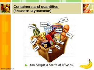 Сontainers and quantities (ёмкости и упаковки) ProPowerPoint.ru