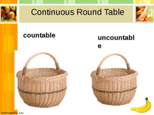 Сontinuous Round Table countable uncountable ProPowerPoint.ru