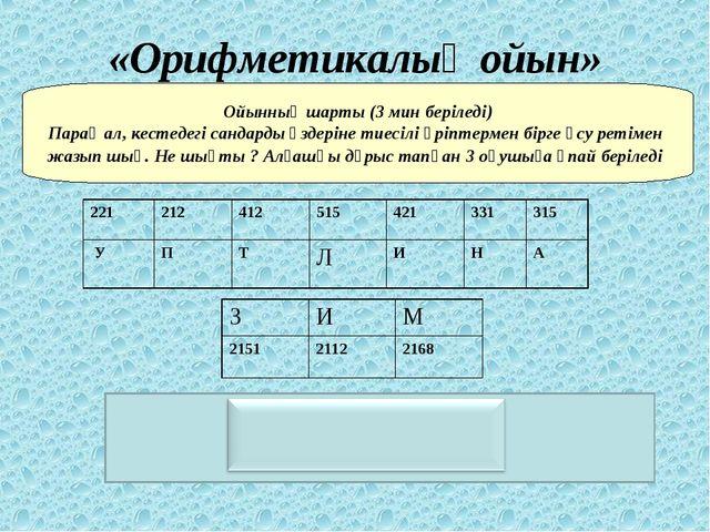 Пуантилизм «Орифметикалық ойын» Ойынның шарты (3 мин беріледі) Парақ ал, кест...