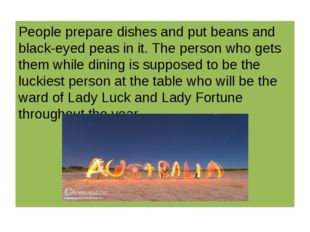 People prepare dishes and put beans and black-eyed peas in it. The person wh