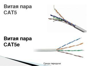 Витая пара CAT5 Витая пара CAT5e Среда передачи данных