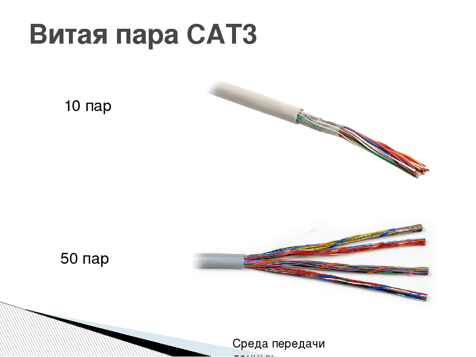 Витая пара CAT3 10 пар 50 пар Среда передачи данных