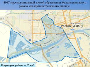 1937 год стал отправной точкой образования Железнодорожного района как админ