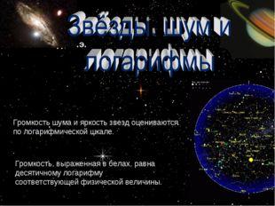Во II веке до н.э. Громкость шума и яркость звезд оцениваются по логарифмичес