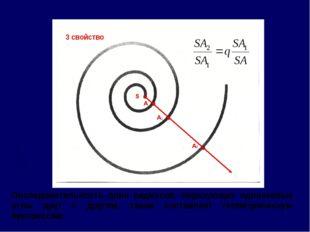 Последовательность длин радиусов, образующих одинаковые углы друг с другом, т
