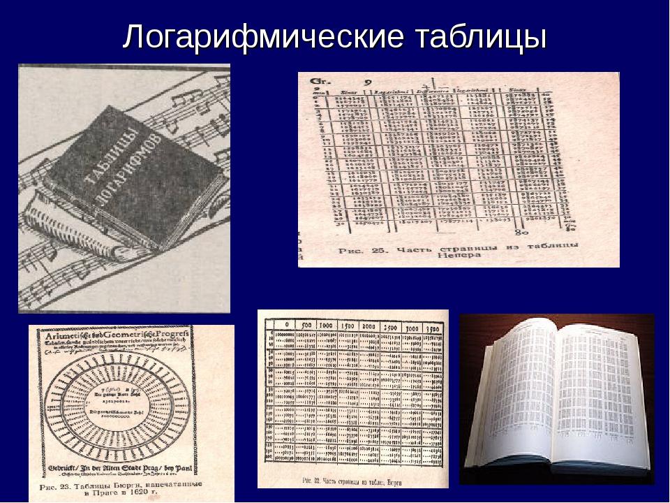 Логарифмические таблицы