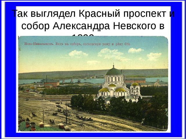 Так выглядел Красный проспект и собор Александра Невского в 1899году