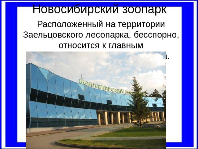 Новосибирский зоопарк Расположенный на территории Заельцовского лесопарка, бе...