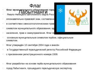 Флаг Лабытнанги Флагмуниципального образованиягород Лабытнанги Ямало-Нене