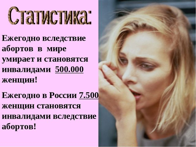 Ежегодно вследствие абортов в мире умирает и становятся инвалидами 500.000 же...