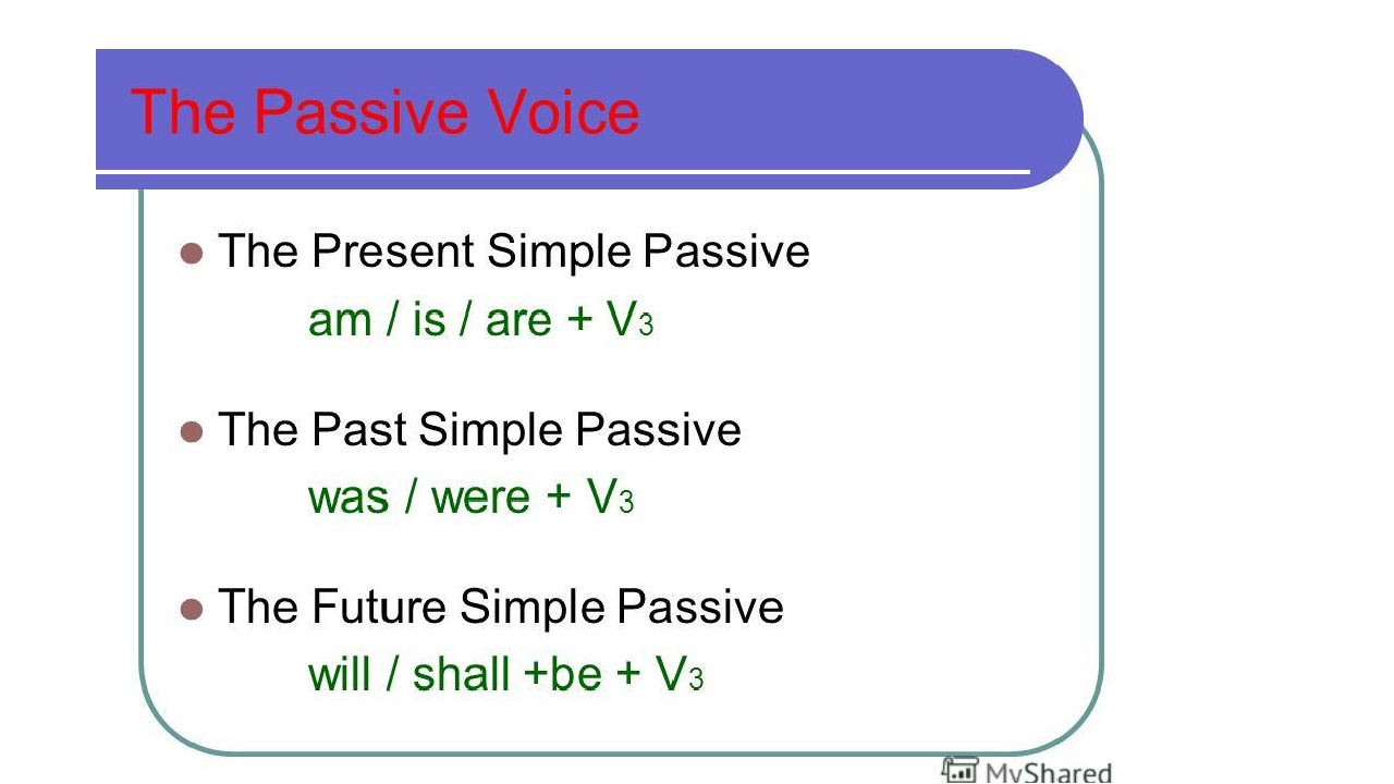 Passive voice – fill in present simple, past simple Most ...