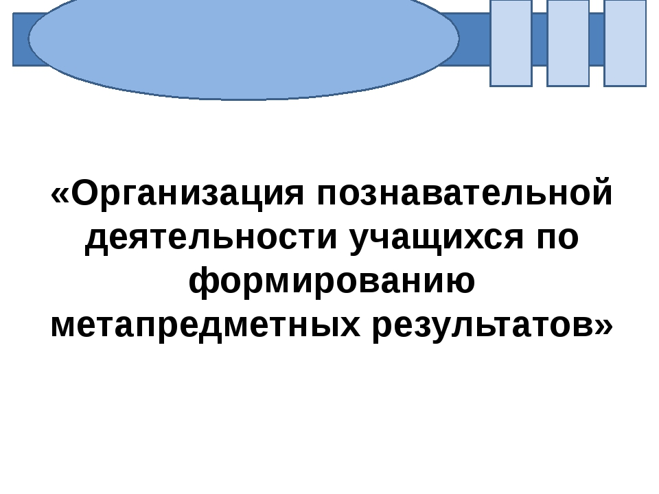 «Организация познавательной деятельности учащихся по формированию метапредме...