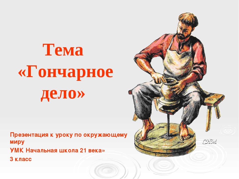Тема «Гончарное дело» Презентация к уроку по окружающему миру УМК Начальная...