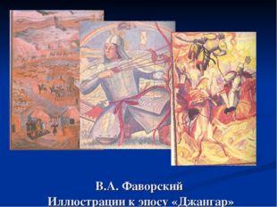 В.А. Фаворский Иллюстрации к эпосу «Джангар»