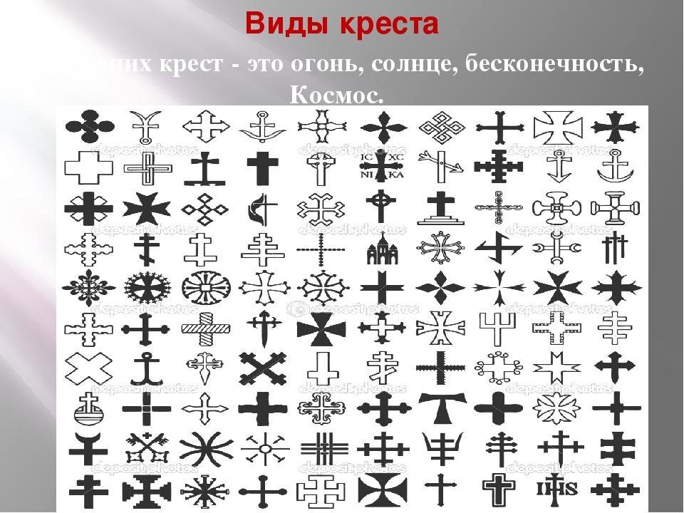 разновидности крестов и их значение фото был