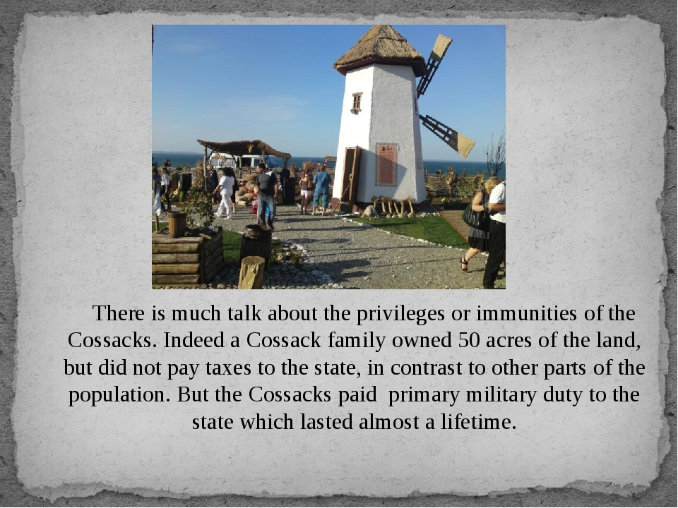 There is much talk about the privileges or immunities of the Cossacks. Indee...