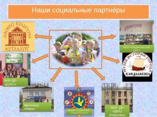 Наши социальные партнёры МАУ ДО «ДЭБС» Кинотеатр «Нива» МАУ ДО «ДЮЦ «Ровесник