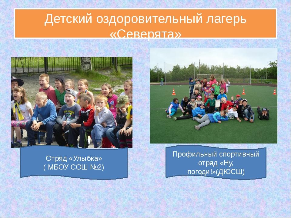 Детский оздоровительный лагерь «Северята» Отряд «Улыбка» ( МБОУ СОШ №2) Профи...