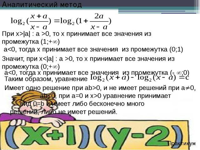 Значит, при x0, то х принимает все значения из промежутка (0;+) Практикум Пр...