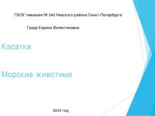 Касатки Морские животные ГБОУ гимназия № 343 Невского района Санкт-Петербурга