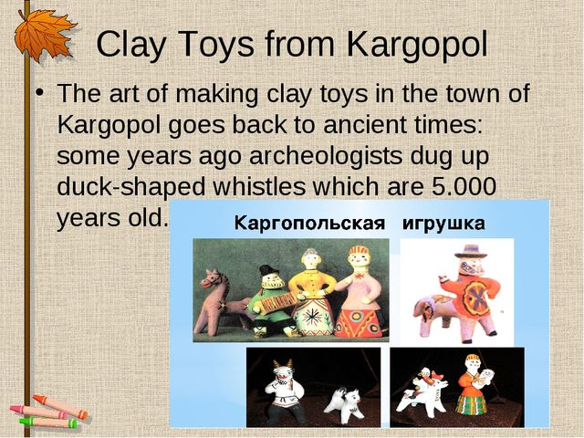 Clay Toys from Kargopol The art of making clay toys in the town of Kargopol g...