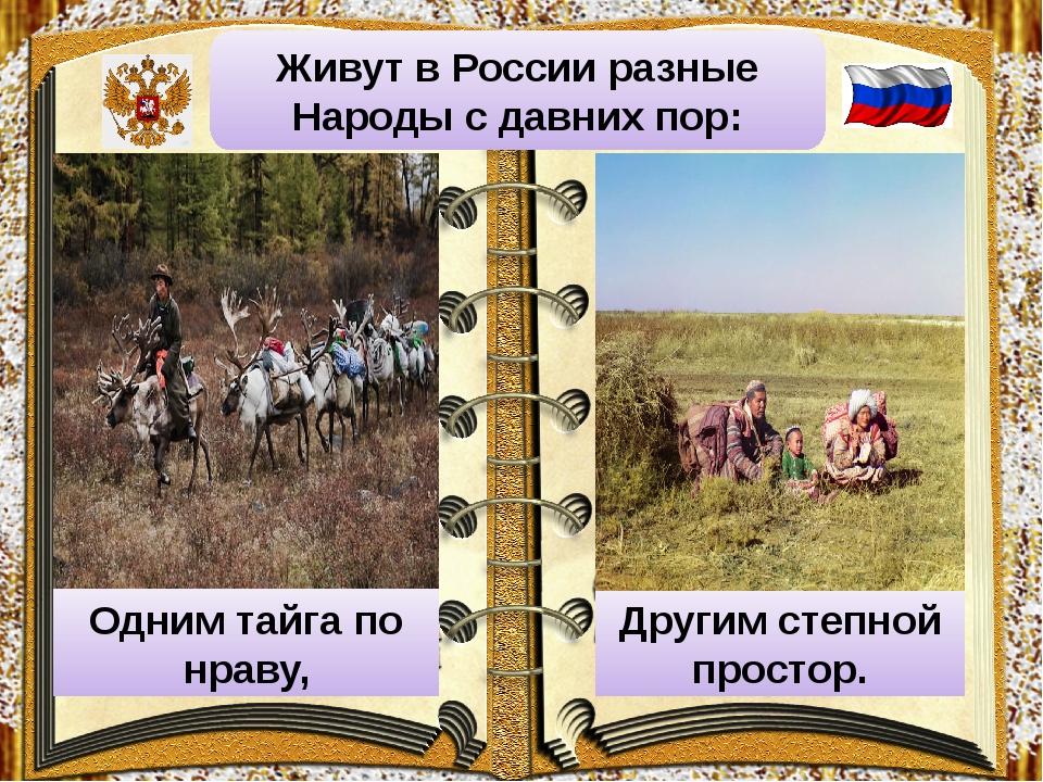 Живут в России разные Народы с давних пор: Одним тайга по нраву, Другим степн...