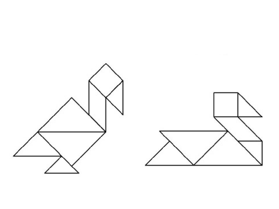 Картинки из треугольников для детей легкие