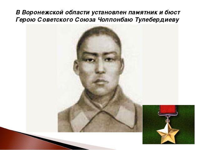 В Воронежской области установлен памятник и бюст Герою Советского Союза Чолпо...