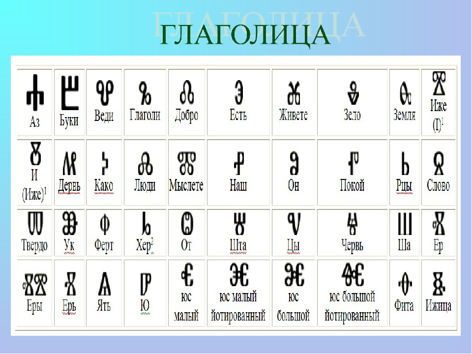 картинки старославянского алфавита леваде