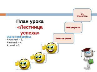 План урока «Лестница успеха» Мхи В мире сказок Тема урока Цели Работа в групп