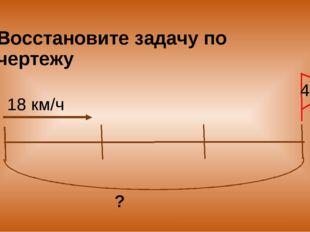 Восстановите задачу по чертежу 18 км/ч ? 4ч