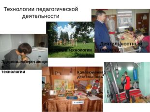 Технологии педагогической деятельности Личная гигиена Коллективная деятельнос