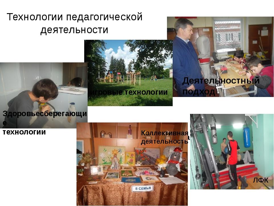 Технологии педагогической деятельности Личная гигиена Коллективная деятельнос...