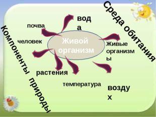бактерии Живой организм воздух растения Живые организмы вода температура чело