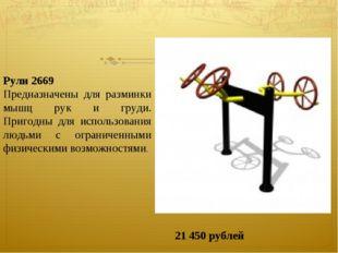 Рули 2669 Предназначены для разминки мышц рук и груди. Пригодны для использов