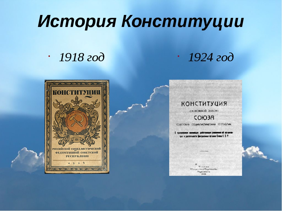 История Конституции 1918 год 1924 год
