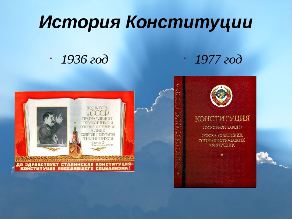 История Конституции 1936 год 1977 год