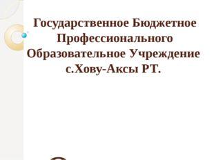 Государственное Бюджетное Профессионального Образовательное Учреждение с.Хов