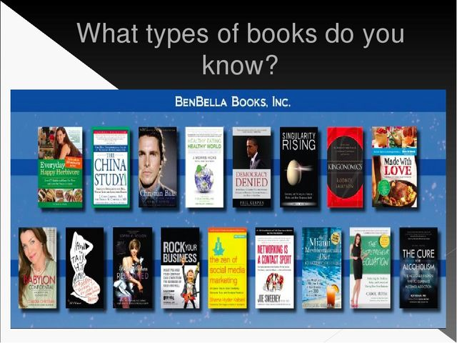 What types of books do you know?
