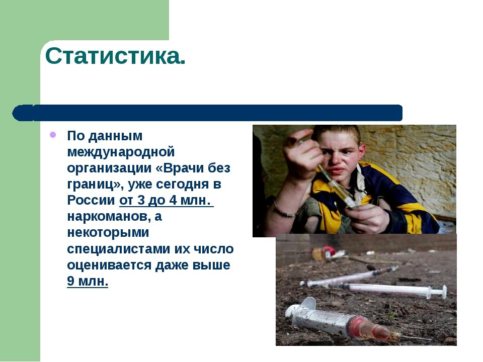 Статистика. По данным международной организации «Врачи без границ», уже сегод...