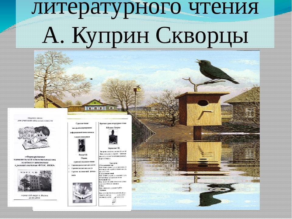 Фрагмент урока литературного чтения А. Куприн Скворцы
