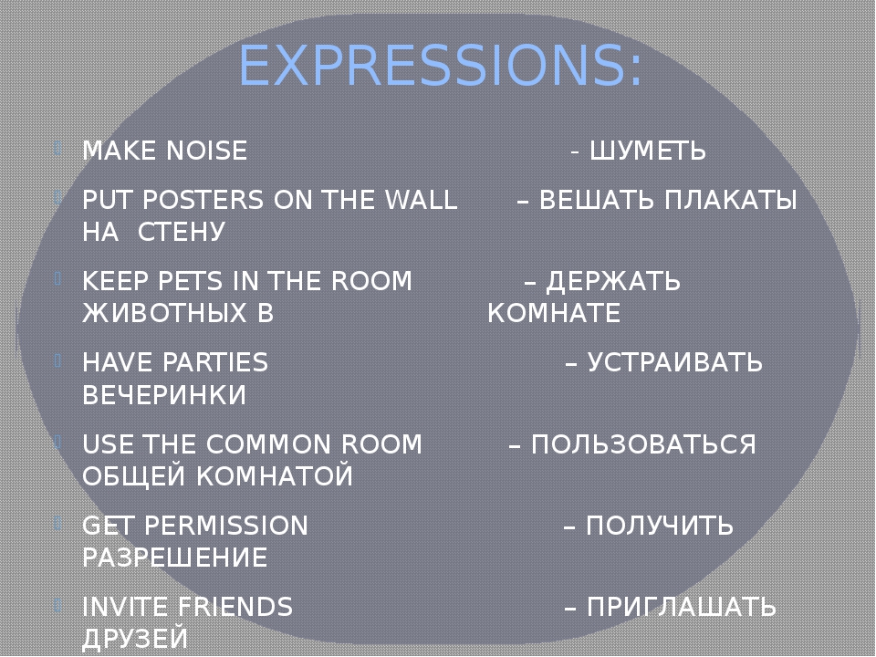 EXPRESSIONS: MAKE NOISE - ШУМЕТЬ PUT POSTERS ON THE WALL – ВЕШАТЬ ПЛАКАТЫ НА...