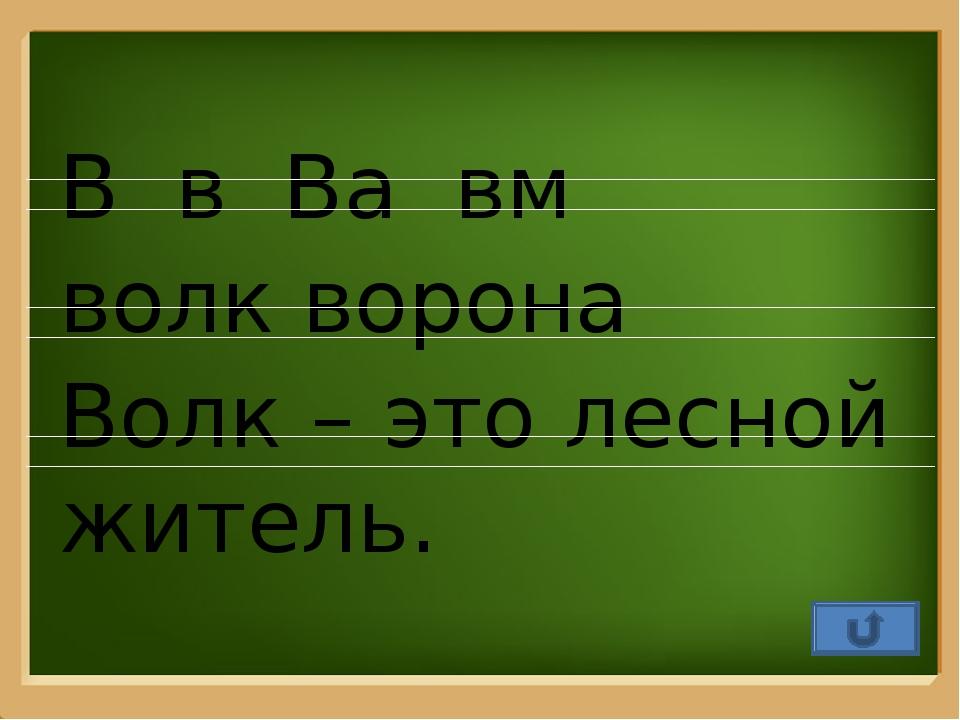 В в Ва вм волк ворона Волк – это лесной житель. ProPowerPoint.Ru