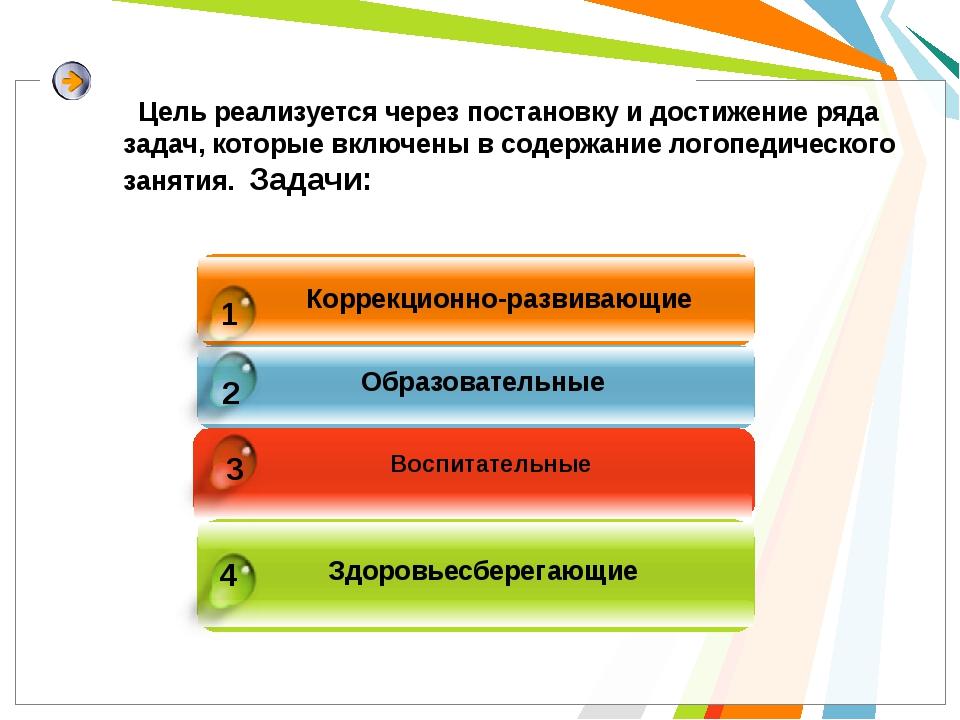 Коррекционно-развивающие Образовательные Воспитательные Здоровьесберегающие 4...