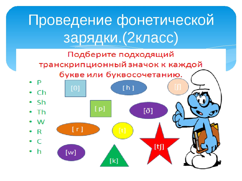 Проведение фонетической зарядки.(2класс)