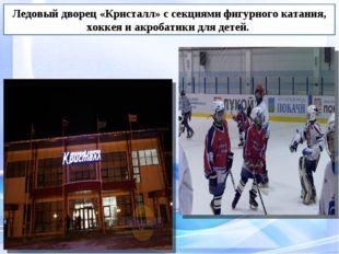 Ледовый дворец «Кристалл» с секциями фигурного катания, хоккея и акробатики д