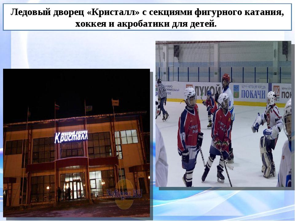 Ледовый дворец «Кристалл» с секциями фигурного катания, хоккея и акробатики д...
